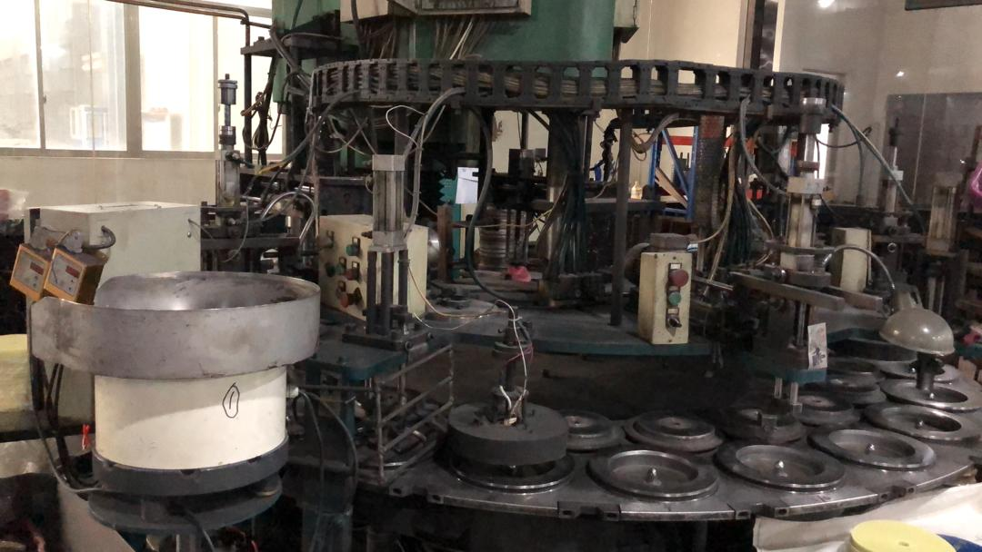 One of our CUTTING DISCS production machine