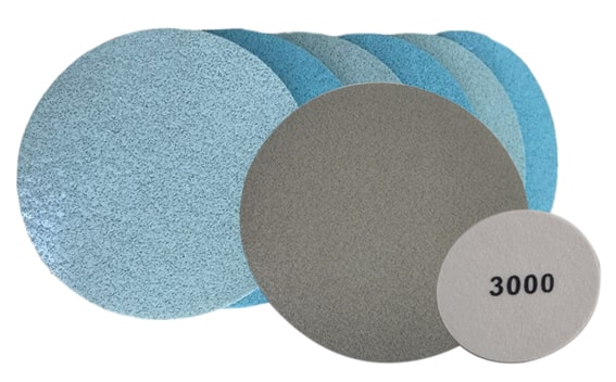 Structured foam polishing discs